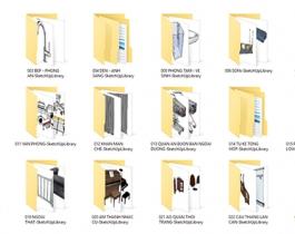 Free dowload bộ thư viện Model Sketchup 10GB