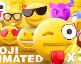 Chia sẻ free bộ Emoji 3D Animated cho After Effects