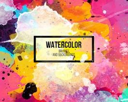 Bộ Water color Brushes Và Design Elements