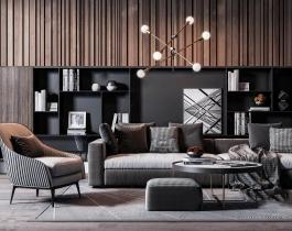 Thư viện 3ds Max - Model phong cách thiết kế nội thất tối giản 2020