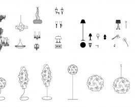 Free download 160 mẫu Block đèn trang trí trong nhà