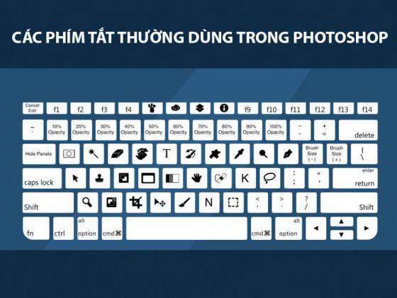 Bài viết sau đây sẽ tổng hợp các phím tắt trong photoshop cs6 (phiên bản khá phổ biến hiện nay) giúp bạn có thể thực hiện các thao tác cơ bản trong photoshop một cách nhanh chóng hơn như phím tắt Feather, gộp Layer, tô màu vùng chọn hay kết thúc các lệnh đang thực hiện. Có khá nhiều các phím tắt và thường xuyên sử dụng thì cũng quen và từ từ các bạn sẽ thấy khả năng sử dụng photoshop của mình chuyên nghiệp hơn thôi.