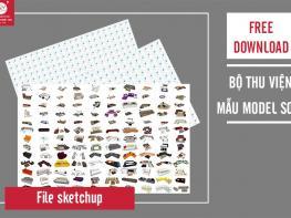 Free download thư viện sketchup mẫu model Sofa