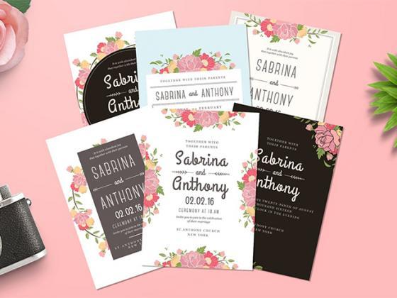Bộ sưu tập thiệp cưới đẹp dùng trong thiết kế