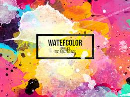 Bộ Watercolor Brushes Và Design Elements