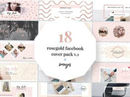Tặng Bạn Bộ Cover Facebook Rosegold