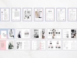 Chia sẽ mẫu thiết kế dàn trang tạp chí Madelynn Pitch Pack