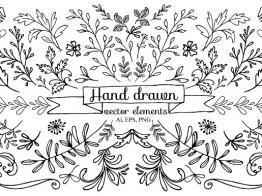Tặng Bạn Bộ Hand Drawn Vector Elements