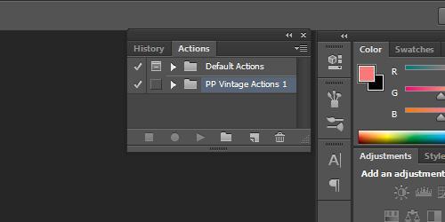 Làm Thế Nào Để Cài Đặt Action Trong Photoshop