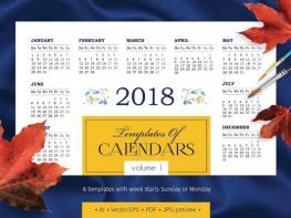 Tặng Bộ Templates Mẫu Lịch 2018 Giá 4$ Trên Creativemarket