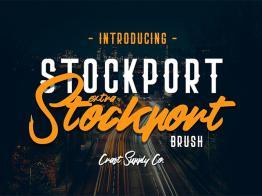 Tải Miễn Phí Bộ Font Chữ Stockport Extra & Brush
