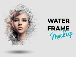 Bộ mockup tạo ảnh chân dung Water Frame
