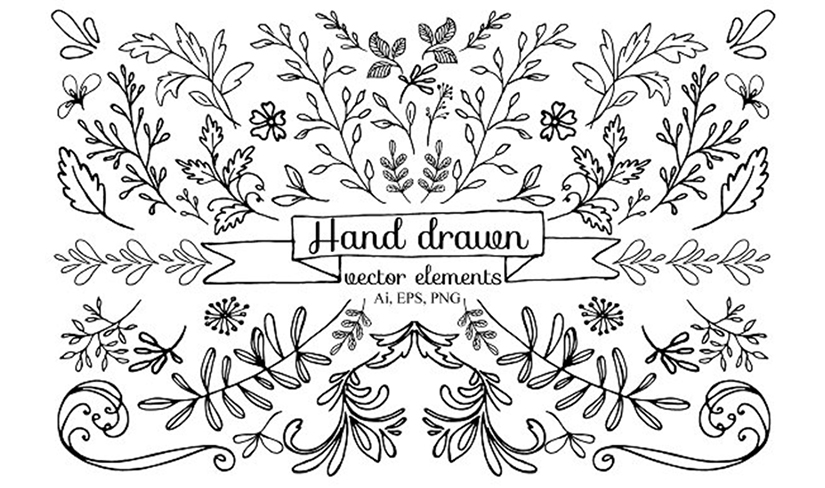 bo hand draw vector elements