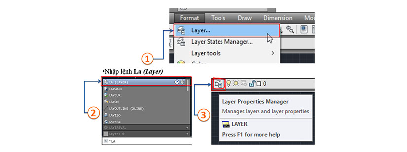 cach tao layer trong autocad 01