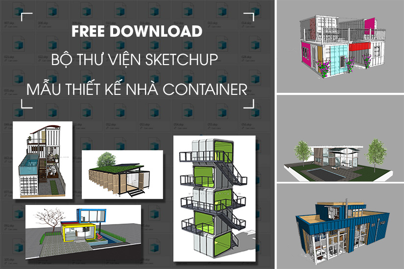 freedown thu vien sketchup nha container