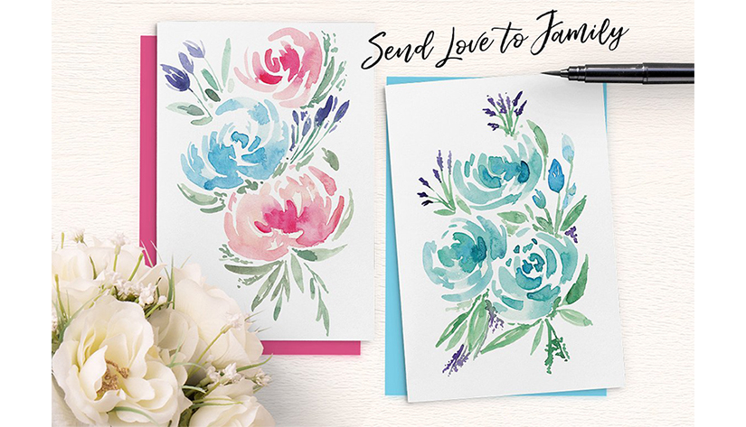 goi 32 watercolor flower bouquets