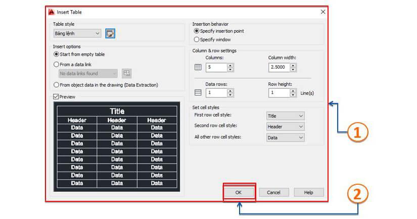 Các lệnh cơ bản trong Autocad 2D - Nhóm lệnh Modify - Các